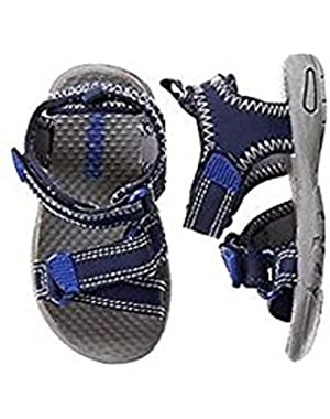 Baby/Toddler Boys' Navy Trek Sandal, 4 baby