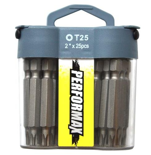 2 Inch Torx T25 Screwdriver Bits - 25 Pack