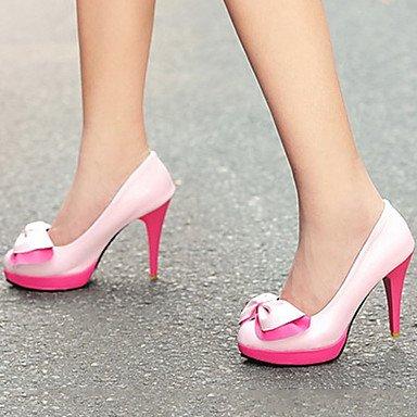 Heart&M Damen Schuhe PU Frühling Herbst Komfort Neuheit High Heels Stöckelabsatz Spitze Zehe Booties Stiefeletten Schleife Für Hochzeit Party & white