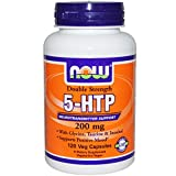 Now Foods Double Strength 5-HTP 200 mg (120 vc) 5 Pack