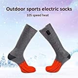 LianLe Electric Heated Thermal Socks Battery Operated Foot Warmers Toes Back Heating Area
