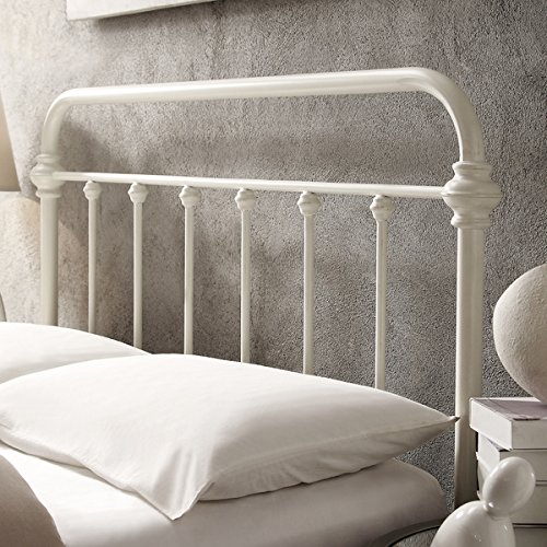 White Antique Iron Metal Bed Frame Vintage Bedroom