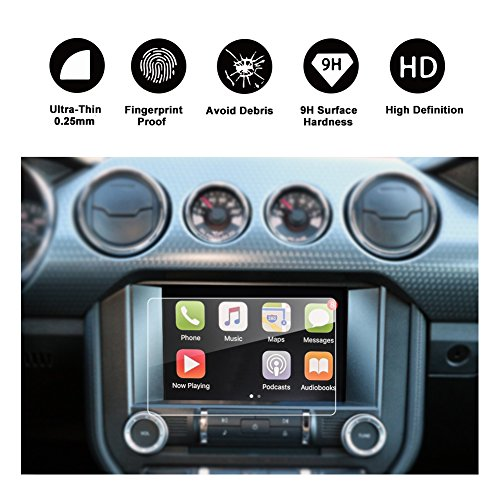 RUIYA Car Navigation Screen Protector,8-Inch In-Dash Screen Protector for Ford Mustang GT350 COUPE/HATCHBACK, High Clarity, Anti-Fingerprint & Anti-Scratch