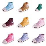 MonkeyJack 9 Pairs 3.7cm Doll Sneakers Shoes for BJD Dolls Canvas Mini Toy Shoes for 1/6 BJD Sneackers for Tilda Doll Accessories