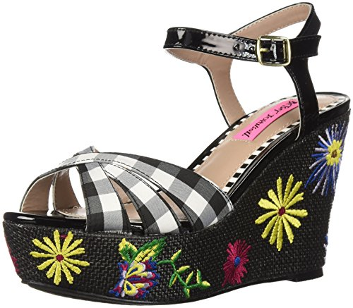 Sandal Betsey Traci Black Johnson Multi Wedge Women's qqIOa