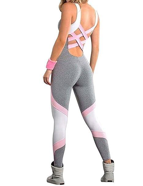 Amazon.com: Moschifia - Traje de yoga para mujer, espalda ...