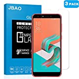 [3-PACK] ASUS ZenFone 5 Lite ZC600KL Tempered Glass Screen Protectors,Jbao Direct 9H Hardness [Anti-Fingerprint] [Bubble free] [Case Friendly] Protective Film for ASUS ZenFone 5 Lite ZC600KL