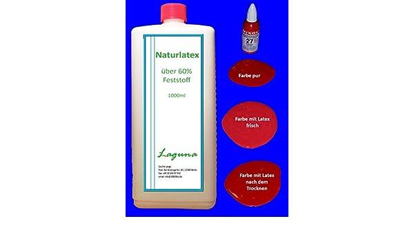 Látex líquido 1 L Látex natural + 20 ml Mixol Real de leche rojo látex goma natural líquido fluido Liquid goma leche Calcetines parada: Amazon.es: Bricolaje ...