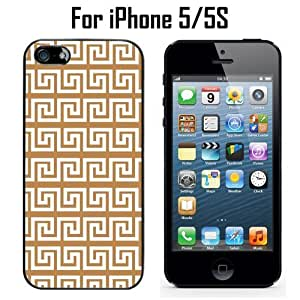 Light Brown Greek Custom Case/ Cover/Skin *NEW* Case for Apple iPhone 5/5S - Black - Plastic Case (Ships from CA) Custom Protective Case , Design Case-ATT Verizon T-mobile Sprint ,Friendly Packaging - Slim Case
