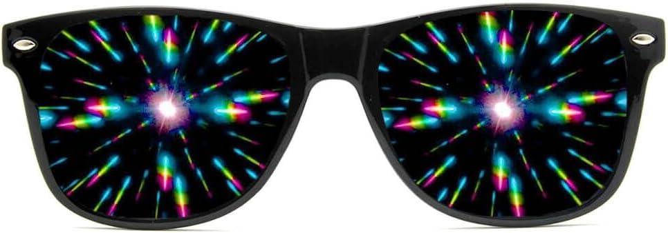 GloFX Spiral Ultimate Diffraction Glasses Rave Prism Grating Glasses Rainbow Firework Spirals