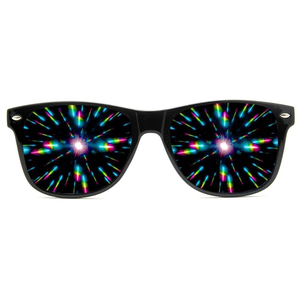 687f2259596b GloFX Ultimate Diffraction Glasses - Matte Black Limited Edition - Rave  Eyewear Ravewear EDM Festivals Light Shows Rainbow Prism Kaleidoscope  Refraction ...