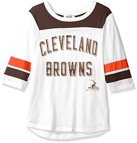 Touch by Alyssa Milano NFL Cleveland Browns Women's Gridiron Tee, White, Large