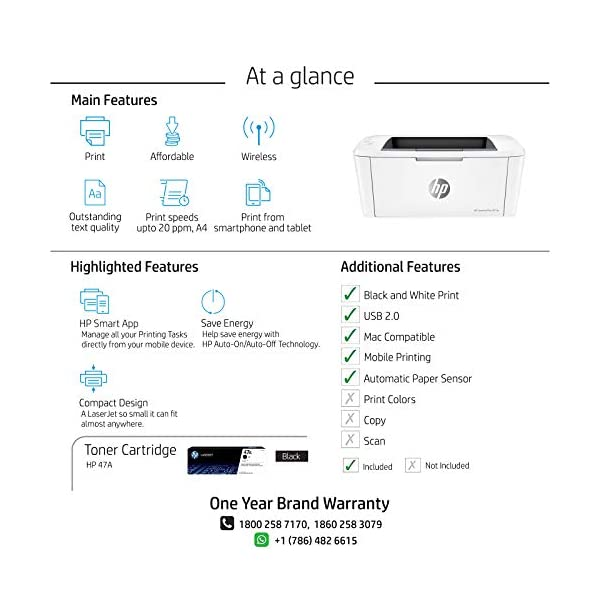 HP Laserjet Pro M17w Single Function Wireless Laser Printer 5