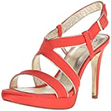 Adrianna Papell Women's Anette Platform Dress Sandal, Coral, 7 M US