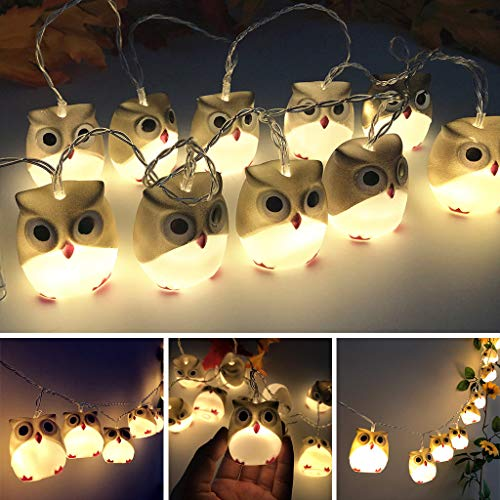 Shan-S Halloween Owl LED String Lights,Horror Fantastic Indoor/Outdoor Ghost Lamp for Halloween Party,Christmas,Carnival,Celebrations and Special Occasions Haunted House Decoration (Prices Lamp)