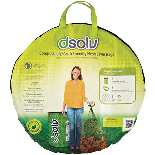 DSolv 1003 Lawn Leaf Disposal Bag Starter Kit