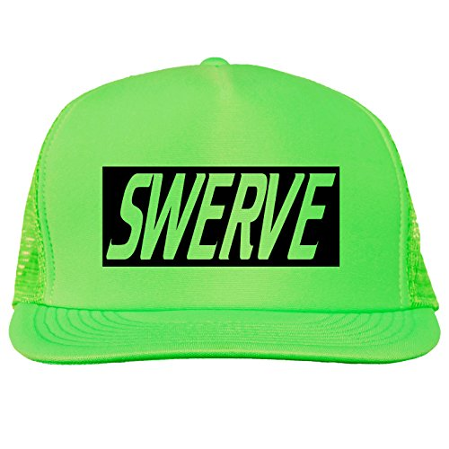 SWERVE Bright neon truckers mesh snap back hat in Neon Green - One Size (Swerve Green)