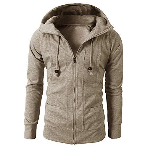 Men Hoodie Pullover,Vanvler Male Autumn Winter Jacket Long Sleeve Zipper Blouse Sport Tops