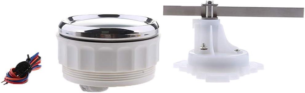 FLAMEER 9 32V 85mm Seitenruderwinkel Messger/ät 0 190ohm Mit Sensor F/ür Marine