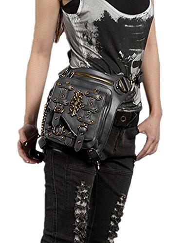 LIU de Talla Wei única Estilo Mujer Steampunk fei Ding para Shantou Bolso Hombro Black1 negro Rw8wF