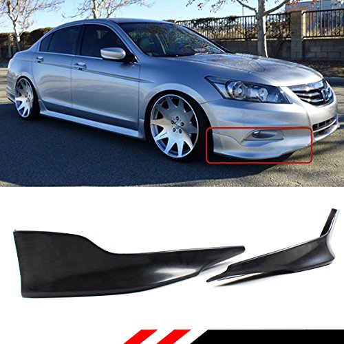Sedan Body Bolt Kit - Fits for 2011-2012 Honda Accord 4 Door Sedan JDM 2 Pieces Style Front Bumper Side Splitters Lip