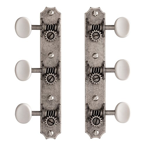 Golden Age Restoration Tuners for Solid Peghead Guitar with Scallop-end, Relic (Pre War Instrument)