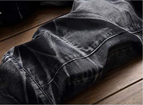 Straight Original Denim Libero Pants Jeans Taglie Pantaloni Da Slim Comode Moda New Nero Classic Retro Abiti Uomo Tempo Tide BnnYxFH