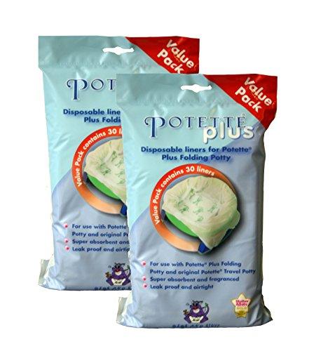 multifunktional Potette Plus Reisetopf//Toilettenverkleinerer//Haus dank der Hartschaleneinlage Premium 10 St/ück Wei/ß