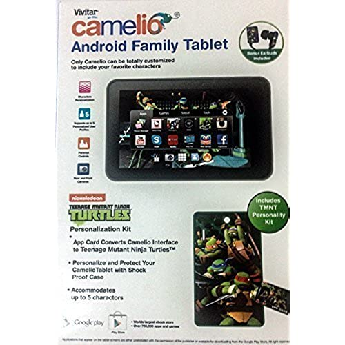 BUNDLE Vivatar Camelio Android Family Tablet CAM740 with Teenage Mutant Ninja Turtles Personalization Kit Coupons