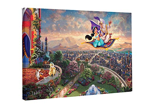 Fairy Canvas Princess - ALL DECOR Fairy Tale Princess Aladdin Printing Artwork Wall Art Canvas Prints Modern Home Kids Bedroom Decorations Stretched and Framed Ready to Hang (12 X 8 in)