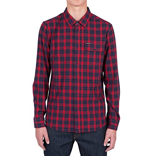 volcom-mens-fulton-long-sleeve-flannel-shirt-blood-red-l