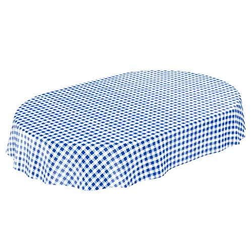 ANRO Hule Mesa Mantel de Hule Lavable clásico Cuadros en Azul Redondo 100 cm, Toalla, Rund 140cm: Amazon.es: Hogar