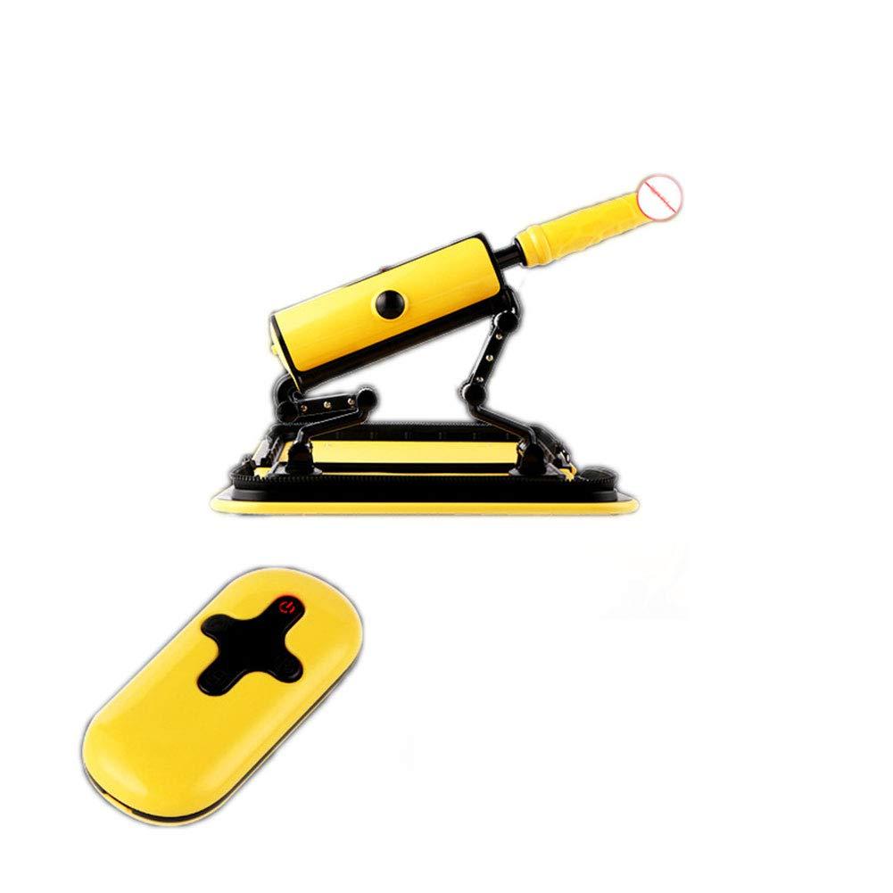 Intelligente Heizung - Fernbedienung - 3 Frequenz Frequenz 3 Teleskop + 3 Frequenz Vibration - Quiet Portable - Winkeleinstellung - Dǐldo für alle Maschinenzubehör Erwachsene Spielzeug für Frau, gelb b2d7db
