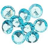 "Homeford FPF0750217TQ 300 Piece Small Diamonds Gemstone Table Confetti, 3/8"", Turquoise"