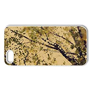 Birch Branches Watercolor style Cover iPhone 5 and 5S Case (Autumn Watercolor style Cover iPhone 5 and 5S Case)