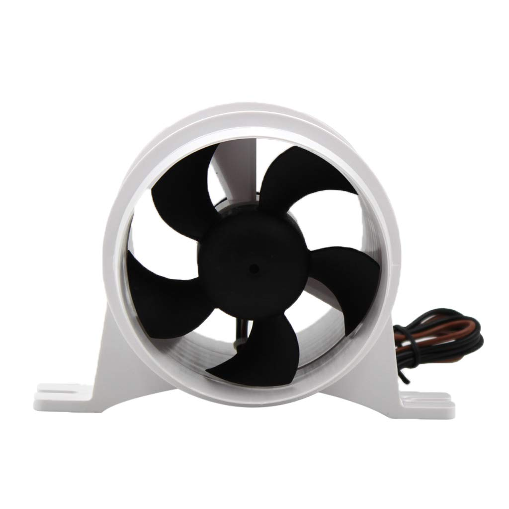 Attwood 1733-4 Turbo In-Line Bilge Blower White 3/""