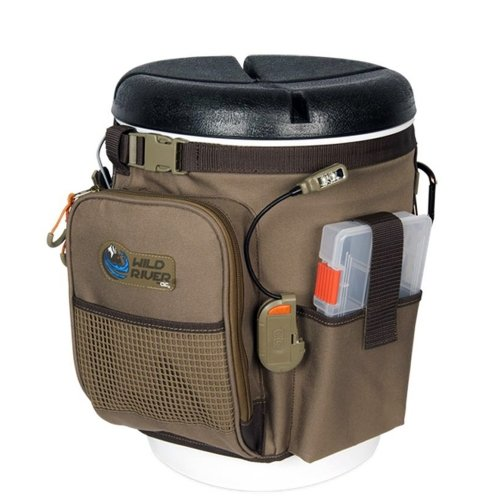 Wild River RIGGER 5 Gallon Bucket Organizer With Lights, Plier Holder and Lanyard, 2 PT3500 Trays and Bucket With Seat For Sale
