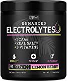 Electrolyte Powder w Real Salt +BCAAs +B-Vitamins (90 Servings | Lemon Berry) Sugar Free Electrolyte Supplement w Potassium Zinc & Magnesium for Complete Hydration & Recovery - Keto Electrolytes