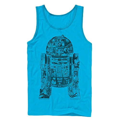 (Star Wars Men's Epic R2D2 Turquoise Tank Top )