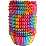 Warmparty Baking Cups Cupcake Liners, Standard Sized, 300 Count (Rainbow),