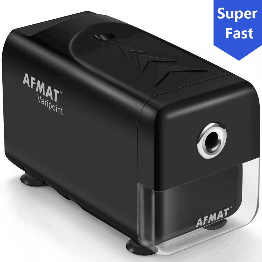 Heavy Duty Electric Pencil Sharpener, Durable Indrustial Pencil Sharpener for Classroom, Helical Blade, Auto Stop, Fast Sharpen in 3s, Suitable for NO. 2 and Colored Pencils, Home, School, Office Use