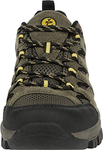 L-RUN Mens Running Shoes Waterproof Hiking Boots Outdoor Shoes Green 10 M US by L-RUN (Image #5)