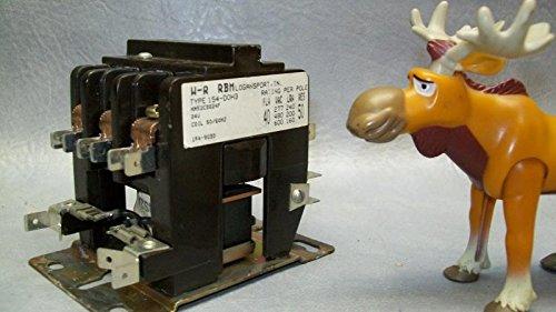W-R RBM Relay Type 154-DOH3 24V AC Coil - Rbm Type
