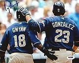 Tony Gwynn Jr. Autographed Photo - 8x10 COA w Adrian Gonzalez - PSA/DNA Certified - Autographed MLB Photos