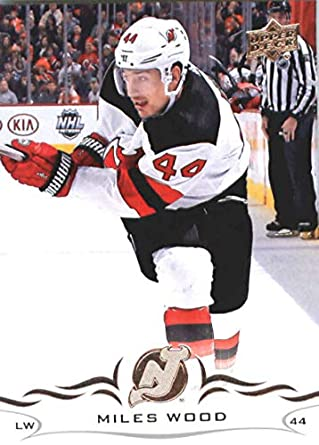 detailed look 26723 96071 Amazon.com: Hockey NHL 2018-19 Upper Deck #111 Miles Wood NJ ...