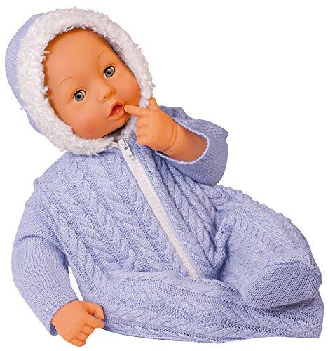 Bayer Design 94669 - Baby Bambolina mit hübschen Strickstrampler, 46 cm, blau