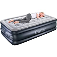 $61 » Cumbor Queen/Twin Air Mattress with Built-in Pump, Premium Elevated Inflatable Air Bed for…