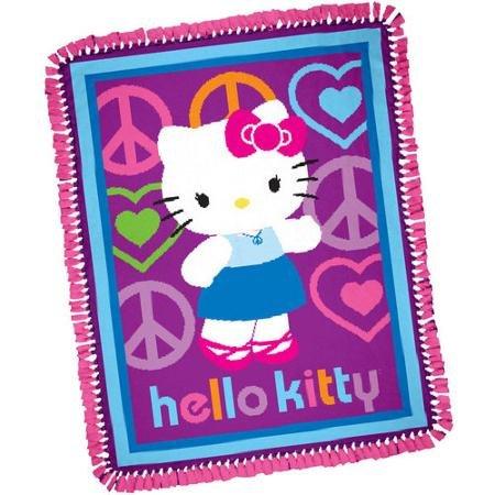 Fleece Tie Throw - Hello Kitty Peace and Love Throw Blanket Craft Kit
