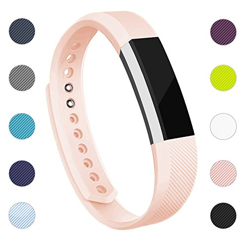 iGK Replacement Bands Compatible for Fitbit Alta and Fitbit Alta HR, Newest Adjustable Sport Strap Smartwatch Fitness Wristbands with Metal Clasp Blush Pink Small