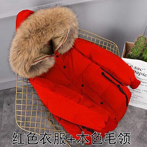 Coat Piumino Mujer Jacket Da brown Fur Fluffy Allentato Plus Inverno Guxiu Size Donna Warm Chaqueta Red vqwz7qd